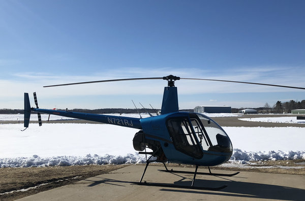Robinson R22 helicopter, Sanford Maine